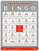 Thumbnail of mini-poster of Tech Diversity Bingo Card