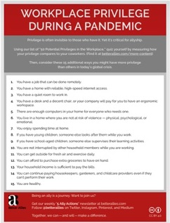 Thumbnail of the Workplace Privilege During a Pandemic  mini-poster